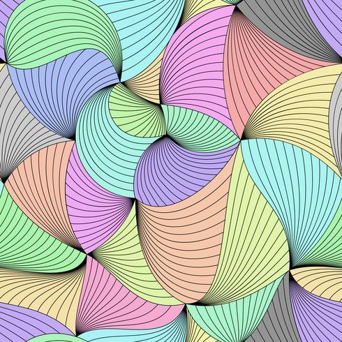Stijlvolle kleurrijke vector gekruld naadloze patroon.