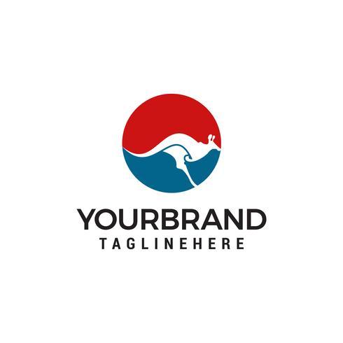 modello di progettazione di logo di canguro