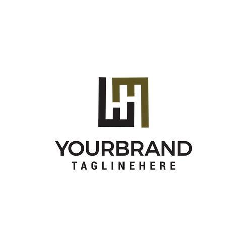 Letter H logo design koncept mall vektor