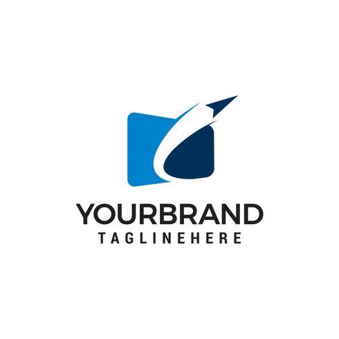 airplane internet logo design concept template vector