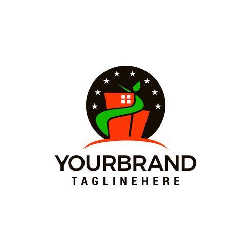 costruzione stella verde Logo Template vettoriale icona design