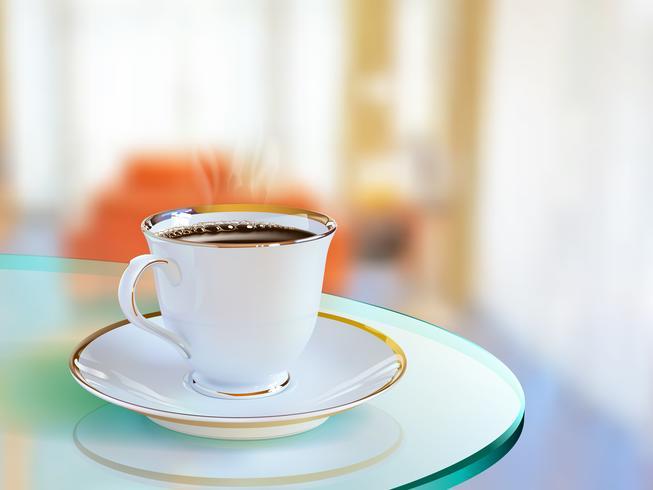 Tazza di caffè realistico di arte vettoriale
