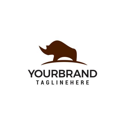Vector de plantilla de concepto de diseño de logotipo de rinoceronte