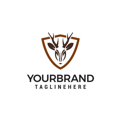 veado escudo logo design conceito modelo vector