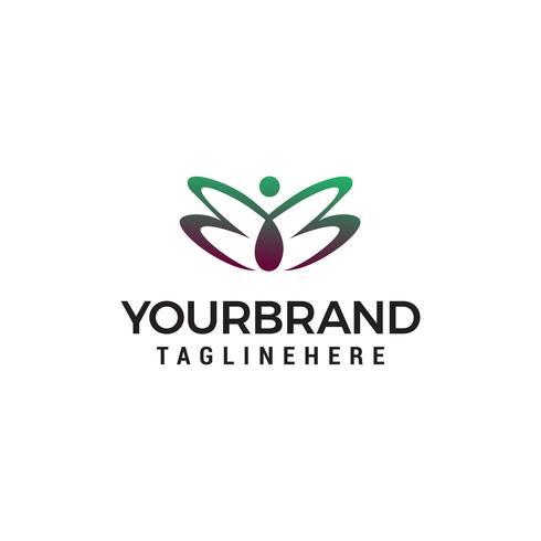 vrouwen vlinder logo ontwerp concept sjabloon vector
