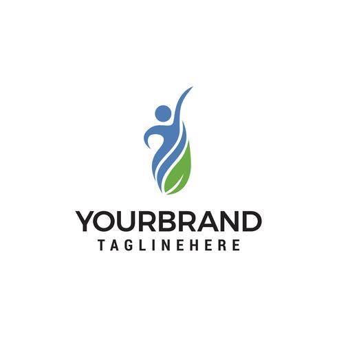 abstrakte Menschen Gesundheit Logo Design Template