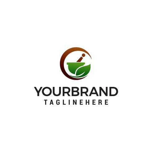 apotheek kruiden logo ontwerp concept sjabloon vector