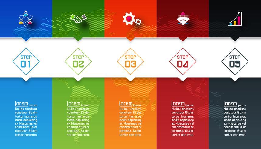 Barre colorate con infografica icona di affari.