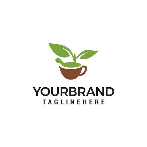 Naturaleza Herbal Logo plantilla diseño Vector