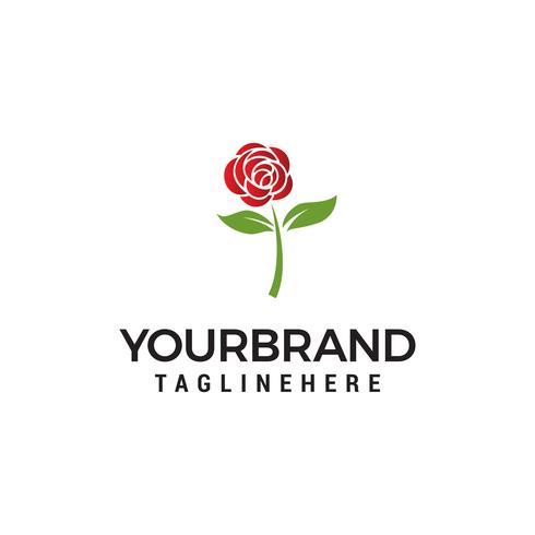 vetor de modelo de conceito de design de logotipo de flor rosa
