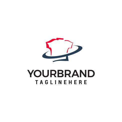 t-shirt winkel logo ontwerp concept sjabloon vector