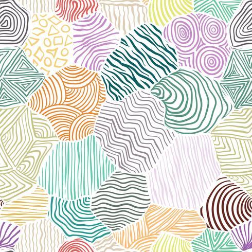 Decoratief patroon dat naadloze achtergrond trekt.