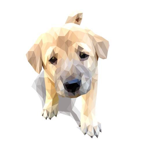 Arte do vetor do polígono do filhote de cachorro.