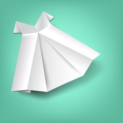 Saia de papel dobrado vetor