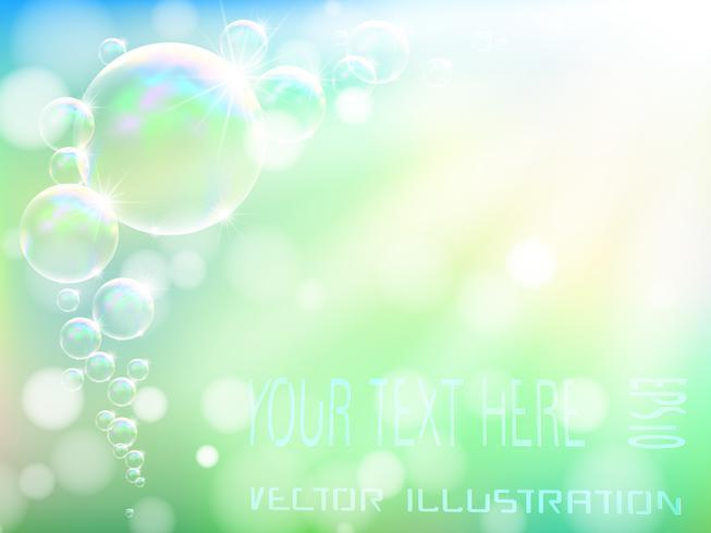 Transparante zeepbel op aardachtergrond