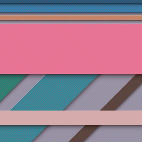 Fundo abstrato, cortando o papel colorido com sombra. vetor