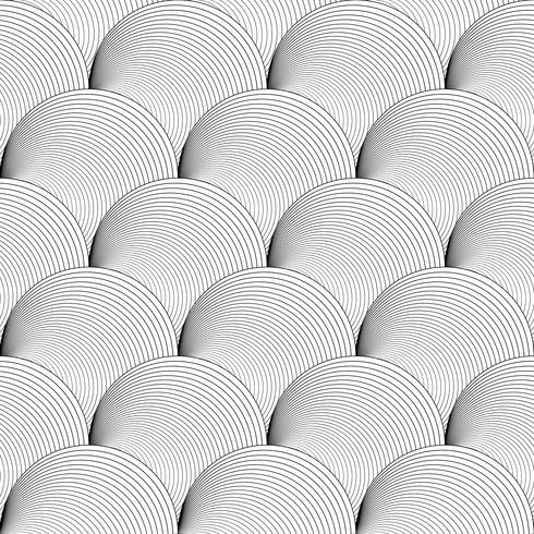 Zwart en wit naadloze patroon als achtergrond op vectorart.