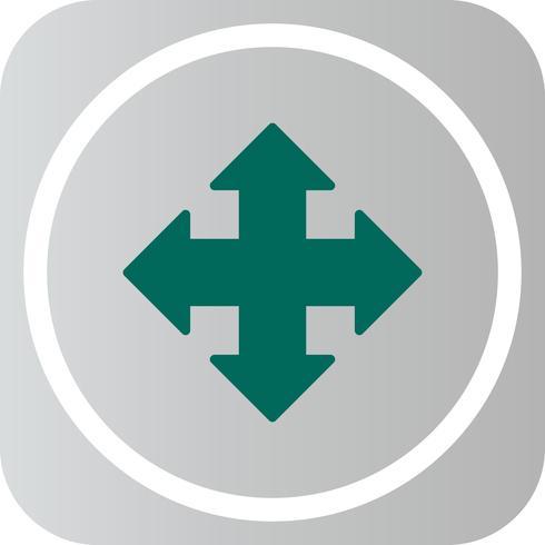 Vector richting pictogram