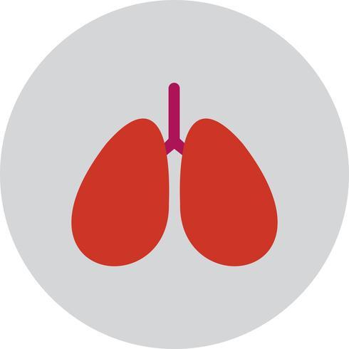 Ícone de pulmões de vetor