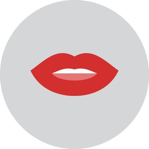 Ícone de lábios de vetor