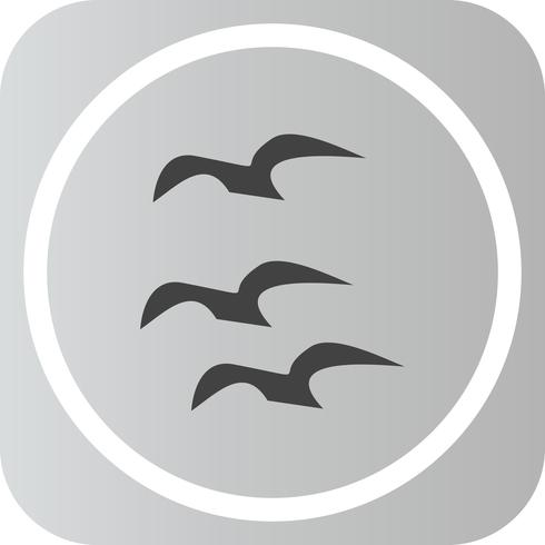 Vector Flying Crows-pictogram
