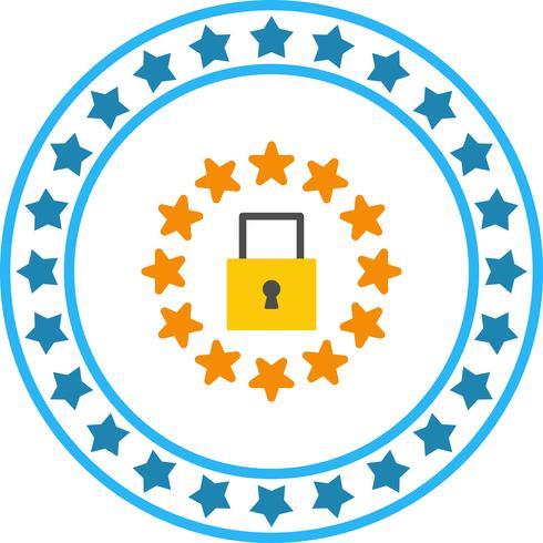 Vector GDPR Security Lock Icon