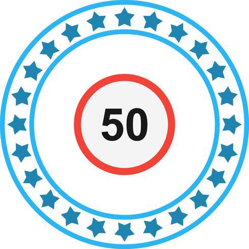 Vector maximumsnelheid 50 pictogram