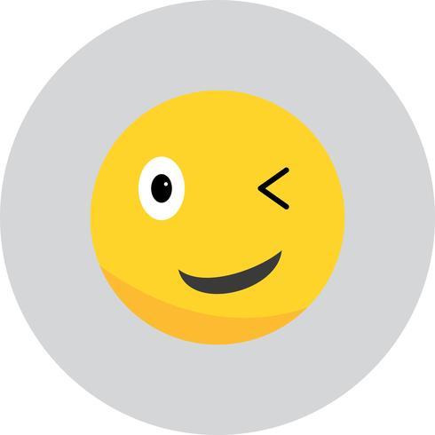 Vector wink Ícone Emoji