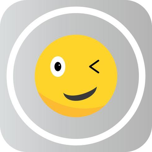 Vector knipoog Emoji-pictogram