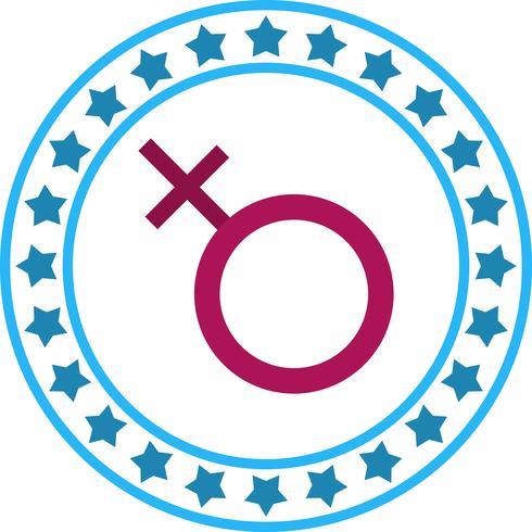 Ícone de sinal feminino de vetor