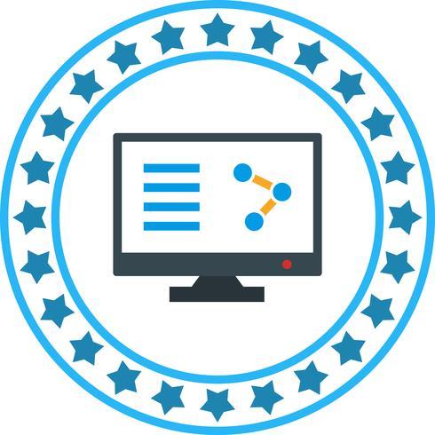 Vector Online Share-pictogram