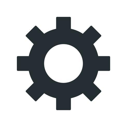 Vector tandwiel pictogram