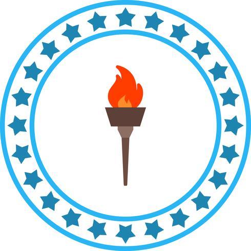 Vector olympisch vuur pictogram