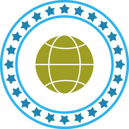 Ícone de globo de vetor