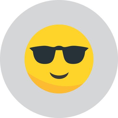 Icône Emoji cool de vecteur