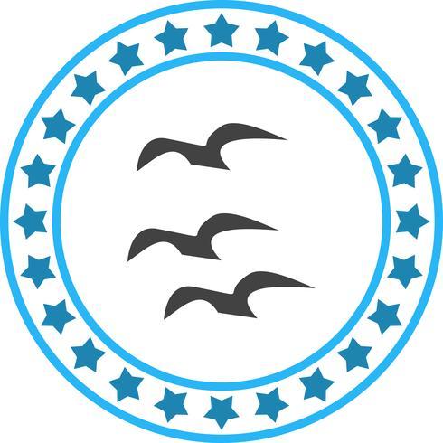 Vector voando ícone de corvos