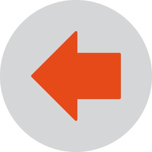 Vektor vänster pil ikon