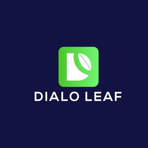 Design de logotipo natural D vetor