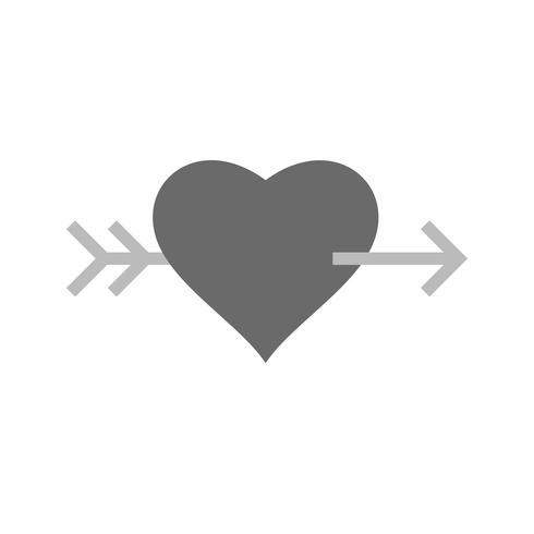 Vector Hart Kruis Pijlpictogram