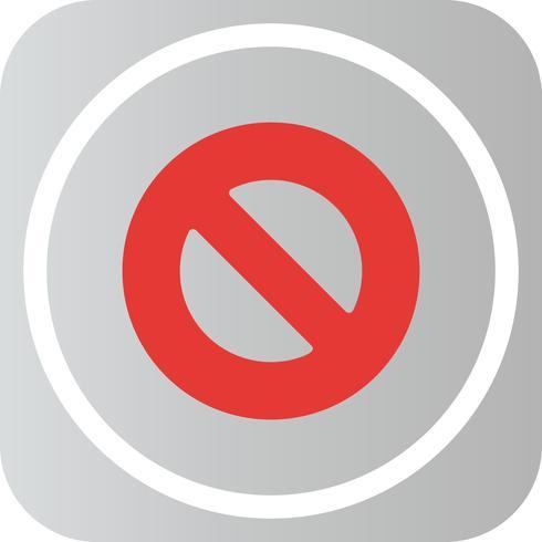 Vector verboden pictogram