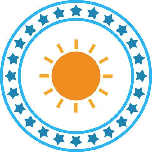 Vector icono de sol