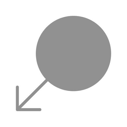 Vector mannelijke teken pictogram