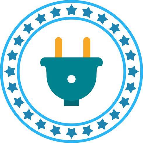 Icona di spina di alimentazione vettoriale
