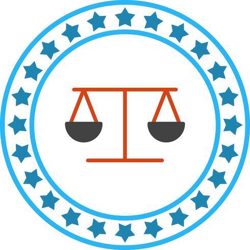 Vector icono de equilibrio