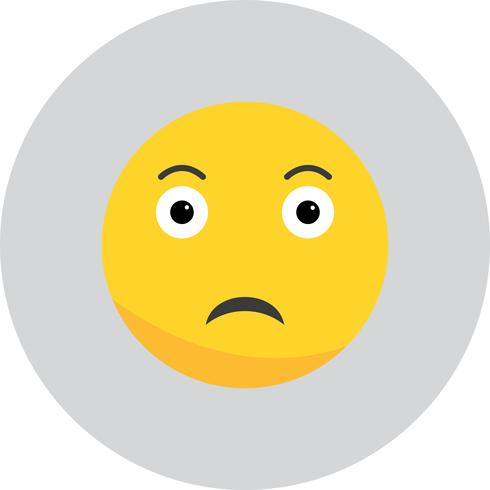 Vector Sad Emoji ícone