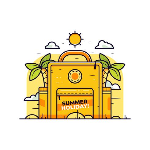 Vetor de verão