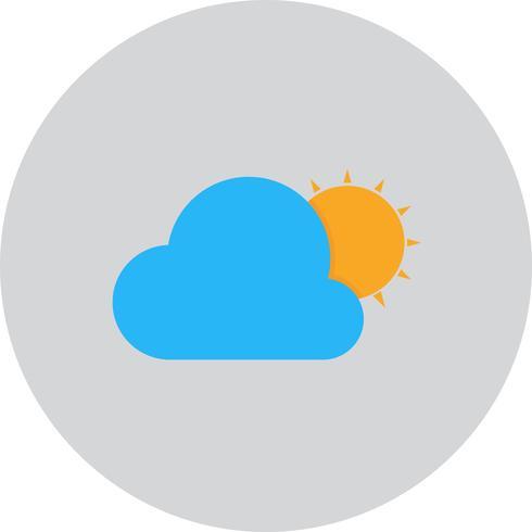 Vektor Sun And Cloud Ikon