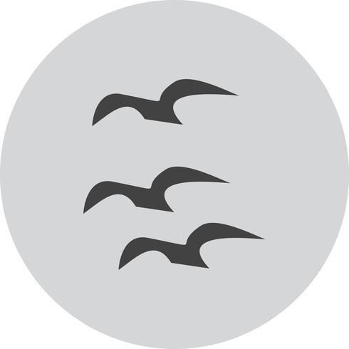 vektor flygande kråkor ikon
