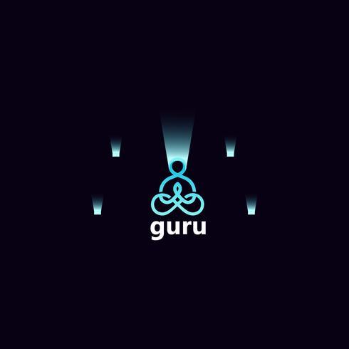 Yoga logo design vector