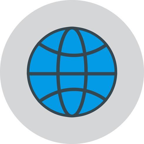 Icona del globo del mondo vettoriale